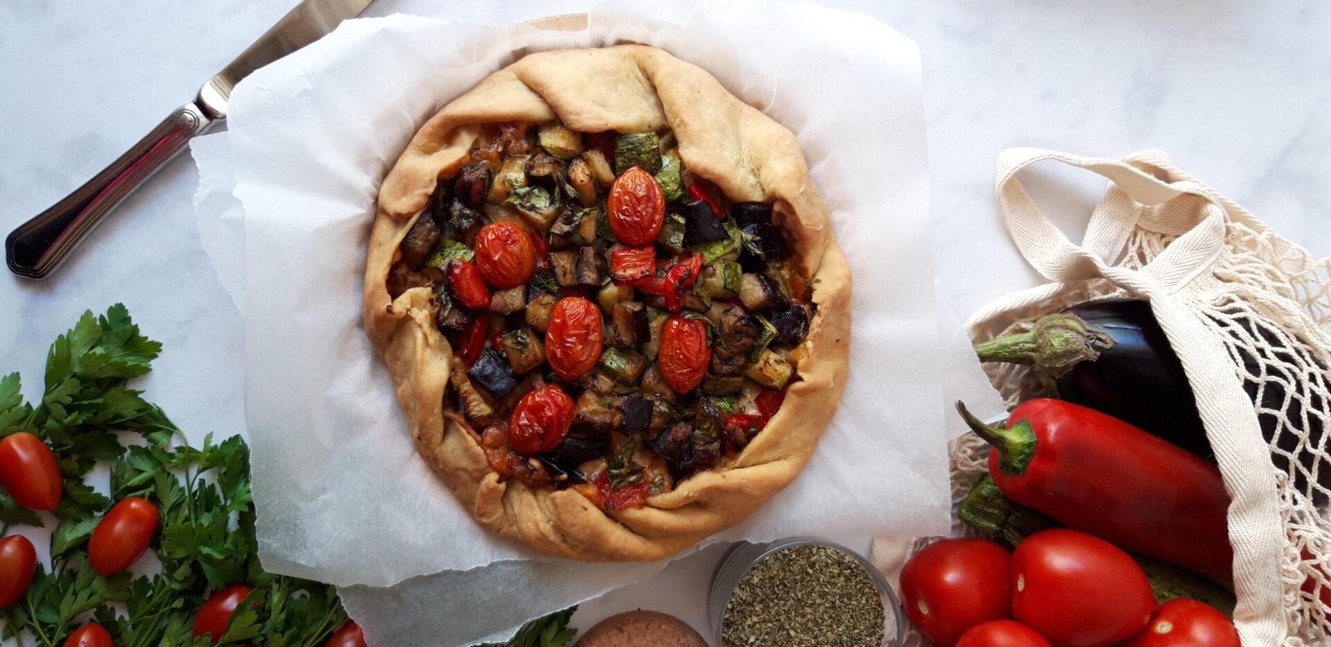 Μεσογειακή Galette με λαχανικά