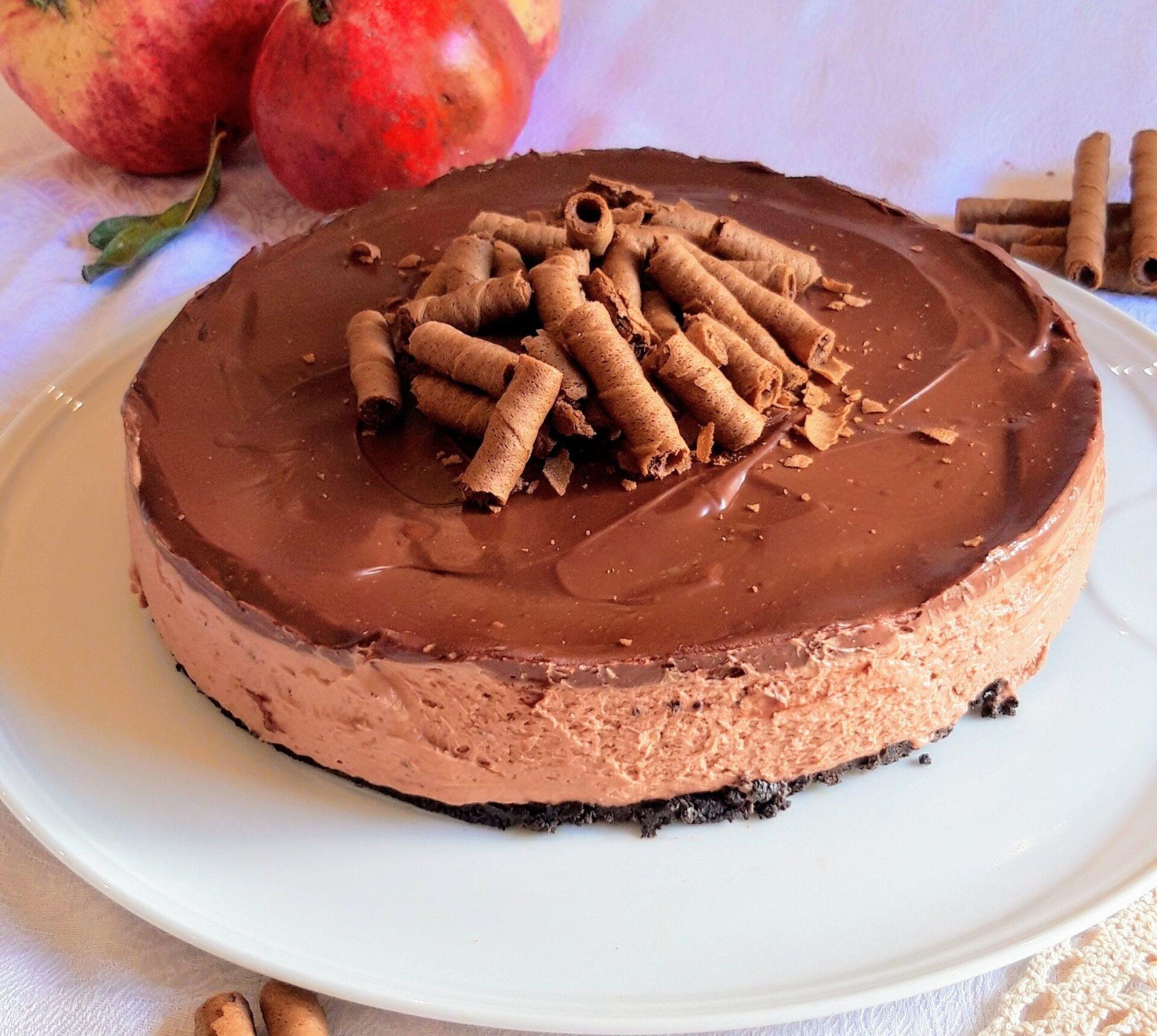 Cheesecake πραλίνα με καφέ