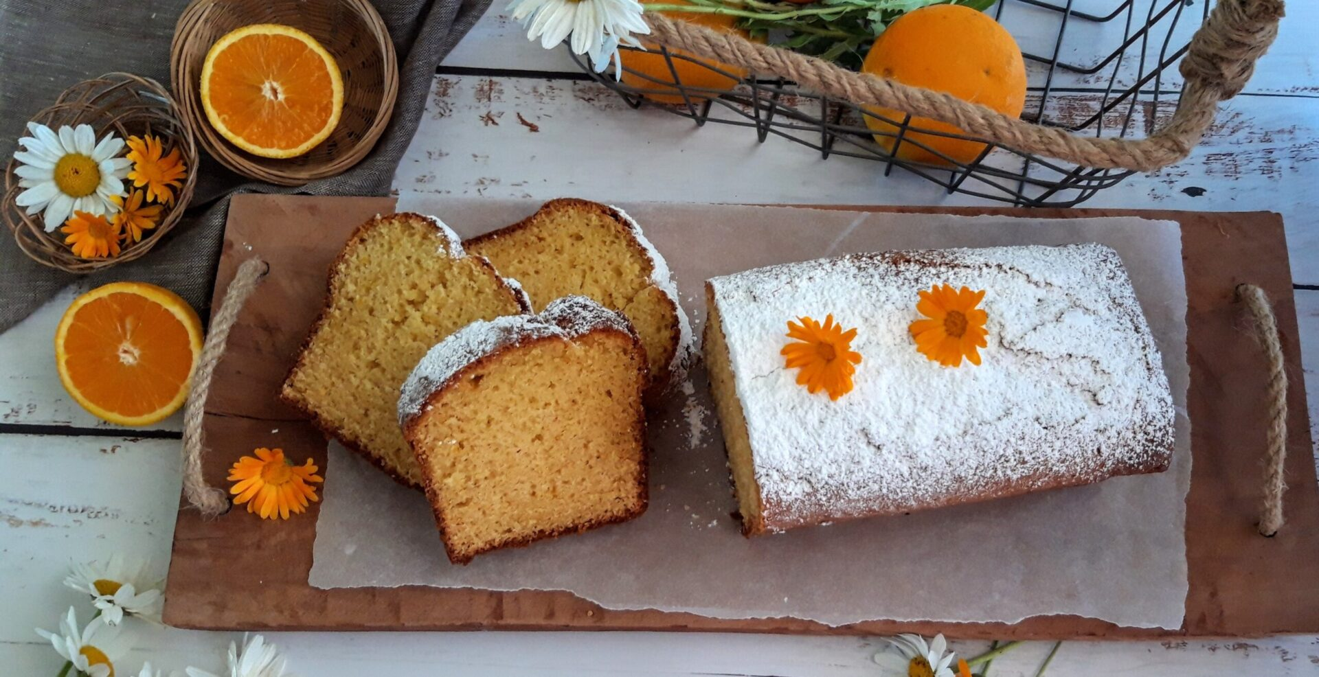 Κέικ πορτοκαλιού με ηλιέλαιο