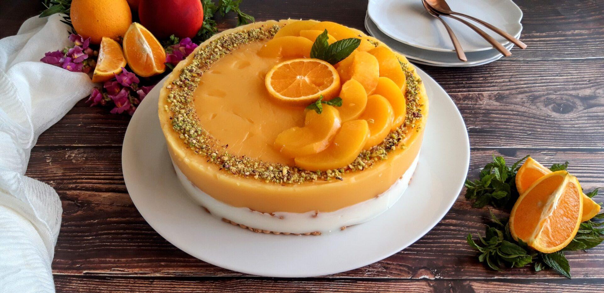 Καλοκαιρινή τούρτα ψυγείου με πορτοκάλι