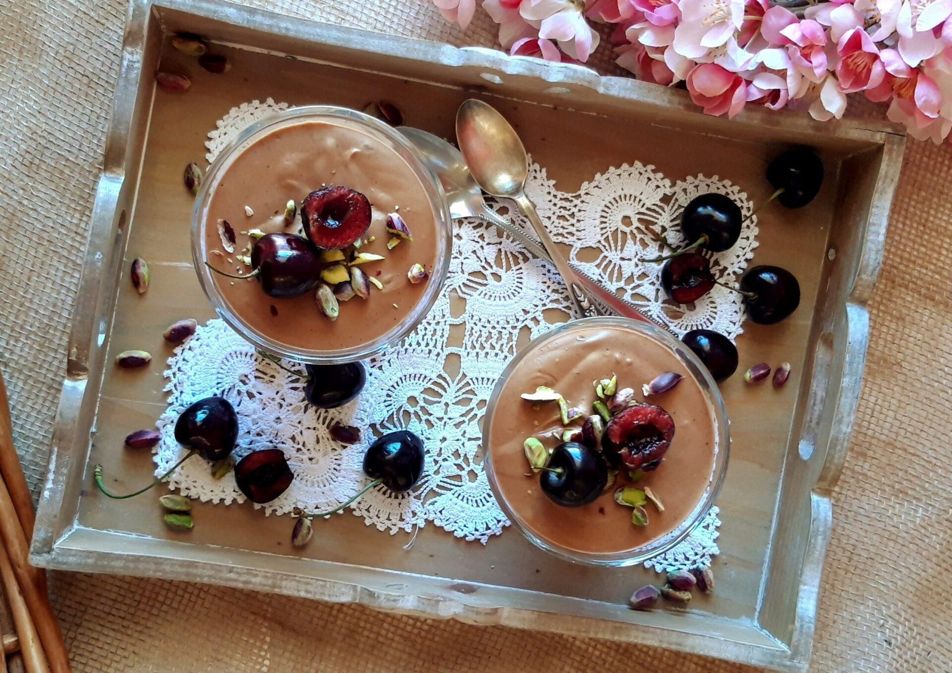 Μους σοκολάτας με φυστικοβούτυρο