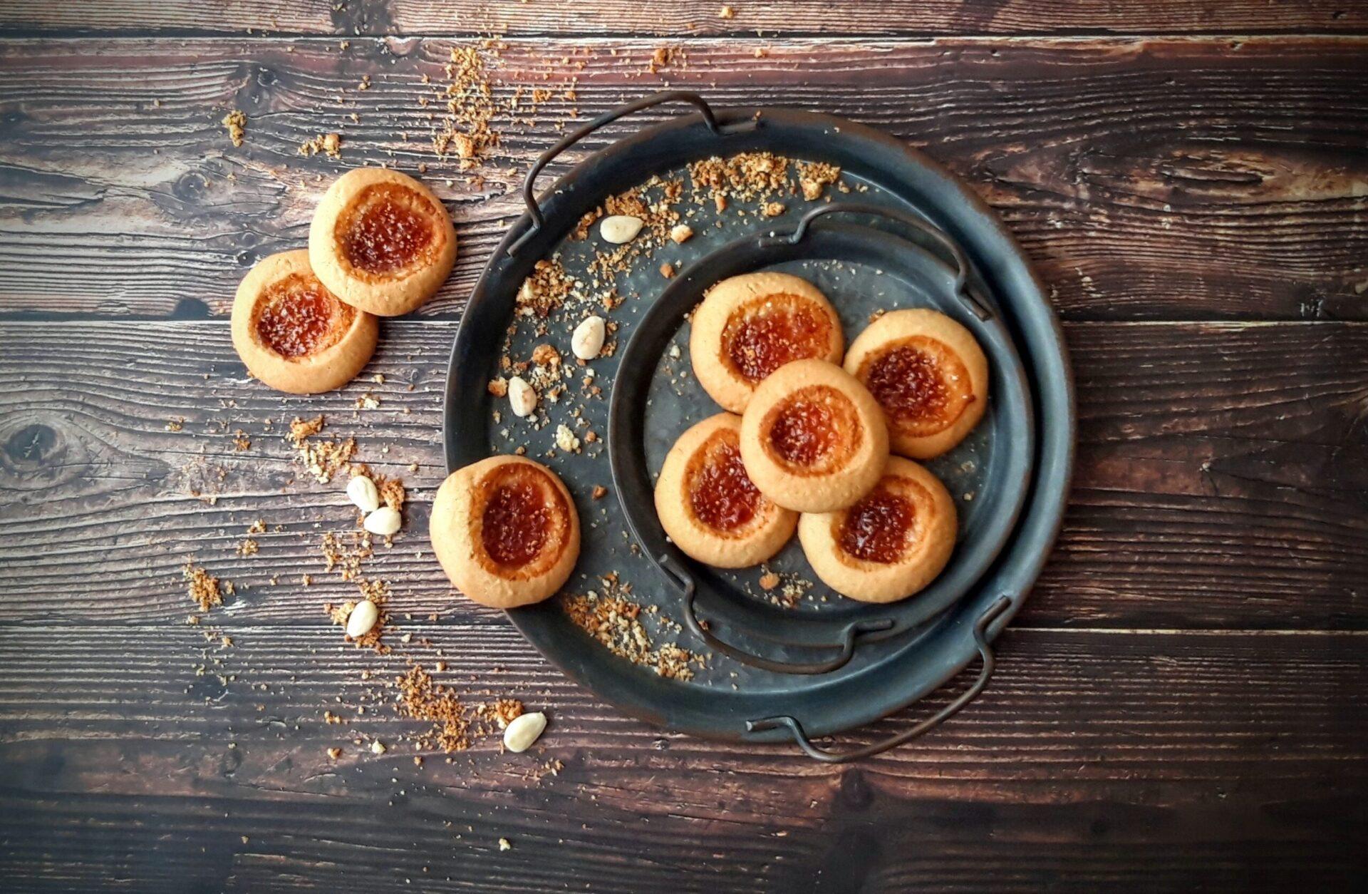 Μπισκότα βουτύρου γεμιστά με μαρμελάδα σύκο